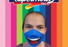 Blue Smile Mask