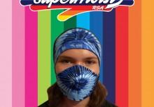 Ladies Blue Headband Mask