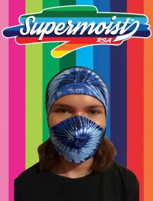 Ladies Headband Mask Blue