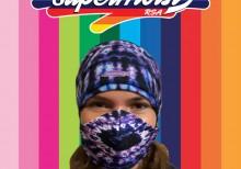 Ladies Purple Headband Mask